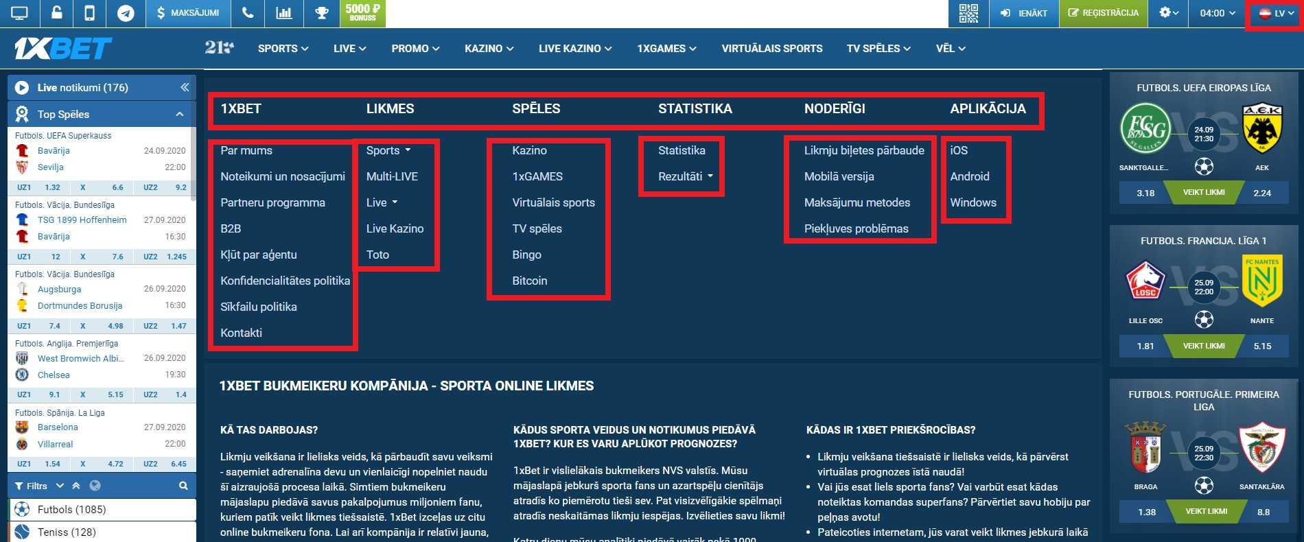 Kiber sporta derības 1xBet Latvija derību uzņēmumā
